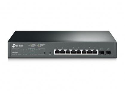 Switch JetStream 8 porturi Gigabit Smart PoE+ cu 2 SFP, TP-LINK T1500G-10MPS