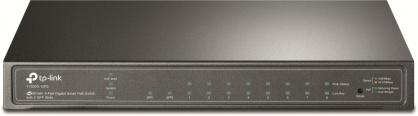 Switch JetStream 8 porturi Gigabit Smart PoE cu 2 SFP, TP-LINK T1500G-10PS(TL-SG2210P)