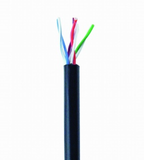 Rola cablu de retea de exterior CAT5e UTP fir solid 305m Negru, Gembird UPC-5051E-SO-OUT