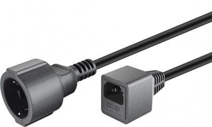 Cablu prelungitor pentru UPS Schuko la C14 siguranta 10A 1.5m