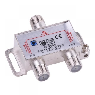 Splitter coaxial (antena tv) 2 porturi 5-2450 MHZ, ZLA0635