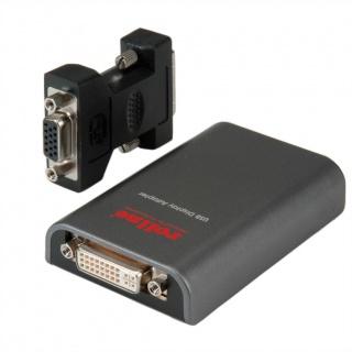 Adaptor USB 2.0 la DVI/VGA, Roline 12.02.1052