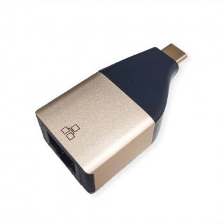 Adaptor GOLD USB 3.2 Gen 2 la Gigabit LAN, Roline 12.02.1111