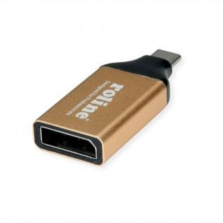 Adaptor GOLD USB-C la Displayport 1.2 T-M, Roline 12.03.3232