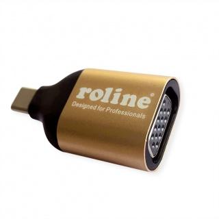 Adaptor GOLD USB-C la VGA T-M, Roline 12.03.3233