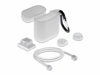 Set de accesorii pentru Apple AirPods alb, Delock 18351