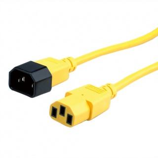 Cablu prelungitor PC C13 la C14 3m Galben, Roline 19.08.1532