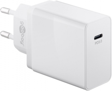 Incarcator priza USB-C PD (Power Delivery) 25W Alb, Goobay G57749