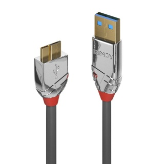 Cablu micro USB-B 3.0 la USB-A 1m CROMO Line, Lindy L36657