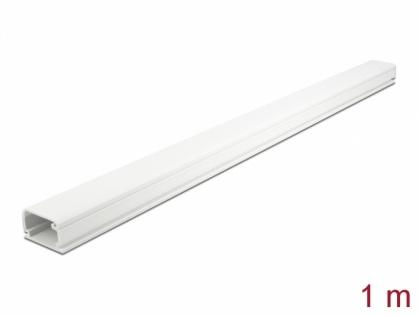 Canal cablu PVC 35 x 20 mm - 1m Alb, Delock 20722