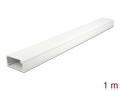 Canal cablu PVC 57 x 28 mm - 1m Alb, Delock 20723