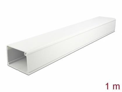 Canal cablu PVC 83 x 54 mm - 1m Alb, Delock 20724