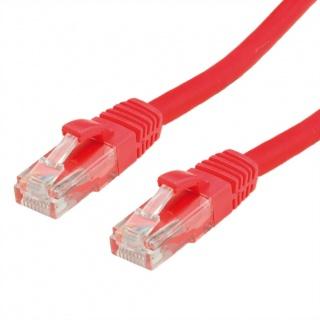 Cablu de retea RJ45 cat. 6A UTP 15m Rosu, Value 21.99.1428