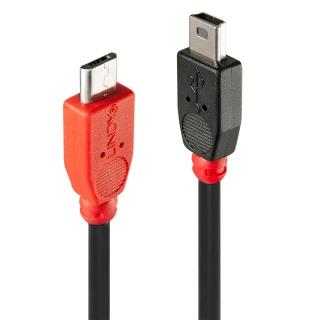 Cablu Micro USB-B OTG la Mini-B T-T 1m, Lindy L31718