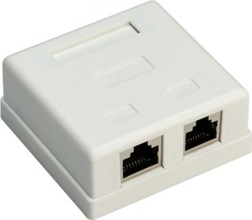 Priza aplicata retea RJ45 2 porturi cat 6 STP, Goobay G77635