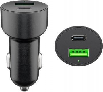 Incarcator auto 1 x USB-A + 1 x USB-C 48W/3A, Goobay G39908