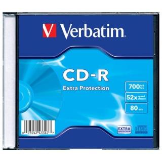 Set 1 buc CD-R 700MB/80min/viteza 52 cu carcasa, Verbatim 43347