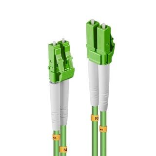 Cablu fibra optica duplex Multimode LC - LC OM5 verde 20m, Lindy L46316