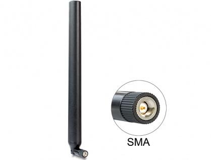 Antena LTE SMA plug 0.1 - 4.5 dBi omnidirectional, Delock 88436