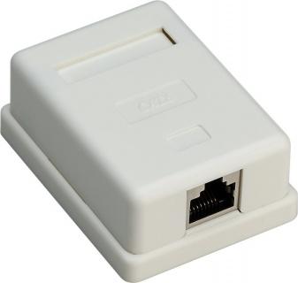 Priza aplicata retea RJ45 1 port cat 6 STP, Goobay G77634