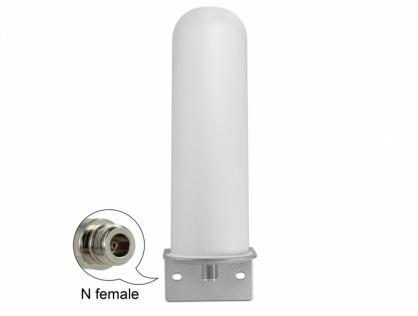 Antena LTE (Lora) N jack 4 - 6 dBi 22 cm omnidirectionala fixa exterior, Delock 12571