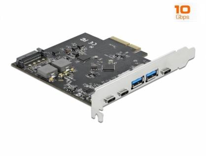 PCI Express x4 cu 3 x USB 3.2 Type-C + 2 x USB-A, Delock 89074