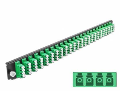 "Panou 19"" pentru carcasa 24 porturi LC Quad OS2 verde, Delock 43370"