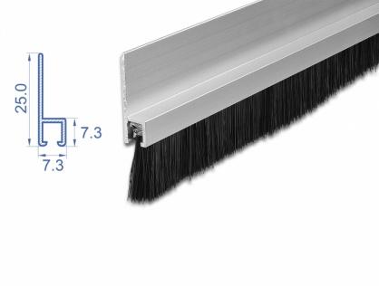 Banda cu perii 20 mm cu profil din aluminiu 1m, Delock 66649