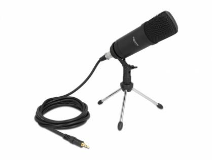 Microfon profesional pentru podcast/computer XLR/jack 3.5mm, Delock 66640