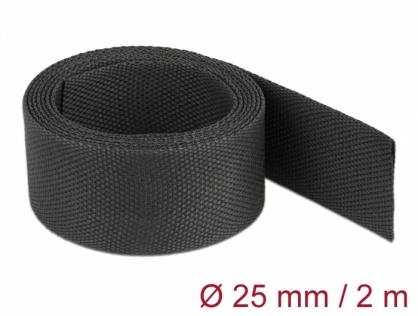 Tub termocontractabil 2 m x 25 mm raport 2:1 Negru, Delock 20795