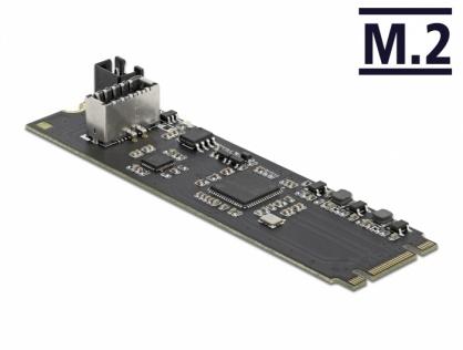 Convertor M.2 Key B+M cu un port intern USB 3.2 Gen 2 key A 20 pini T-M, Delock 63330
