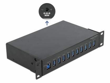 HUB industrial cu 10 x USB-A 3.2 Gen 1, Delock 64112