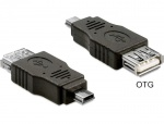Adaptor mini USB la USB 2.0 T-M OTG, Delock 65399