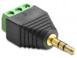 Adaptor jack Stereo Tata 3.5 mm la Bloc Terminal 3 pini, Delock 65419