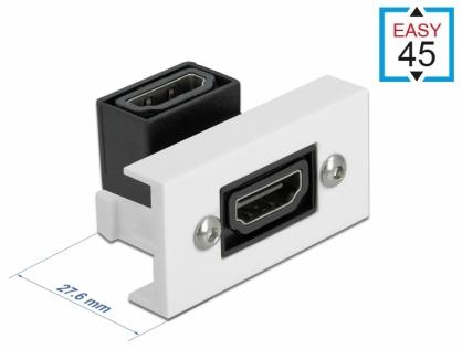 Modul Easy 45 HDMI 4K60Hz M-M unghi 90 grade 22.5 x 45 mm, Delock 81304