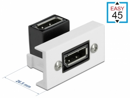 Modul Easy 45 Displayport 8K30Hz M-M unghi 90 grade 22.5 x 45 mm, Delock 81306
