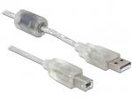 Cablu USB 2.0 A-B upstream T-T 0.5m, Delock 82057
