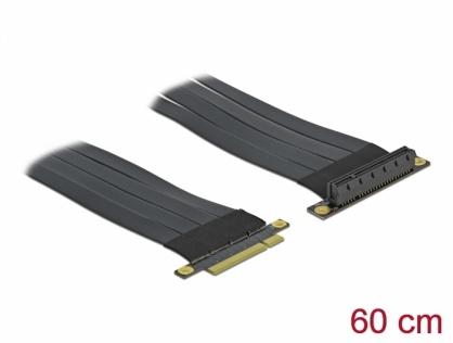 Riser Card PCI Express x8 la x8 + cablu flexibil 60cm, Delock 85767