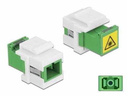 Modul keystone SC Simplex M-M cu protectie laser flip in interior, Delock 86831