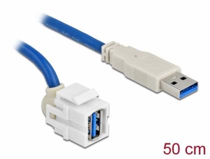 Modul keystone USB 3.0-A 250 grade T-M 0.5m, Delock 86871