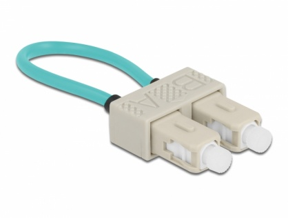 Adaptor fibra optica loopback SC / OM3 Multimode, Delock 86923