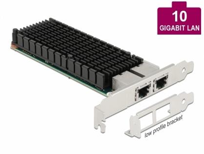 PCI Express x8 la 2 x RJ45 LAN 10 Gigabit Intel X540, Delock 88505