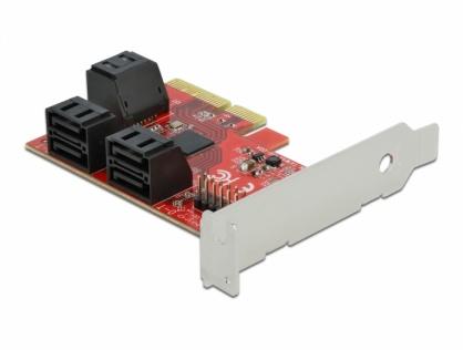 PCI Express cu 6 porturi SATA III LPFF, Delock 89042