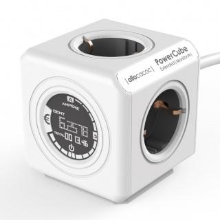 Fisa in forma de cub cu 4 prize 1.5m cu monitorizare consum, Allocacoc