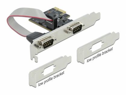PCI Express la 2 x Serial RS-232, Delock 90001