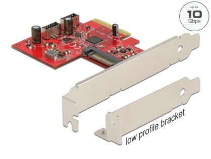 PCI Express cu 2 x USB 3.2 Gen 2 key A 20 pini interne, Delock 90058