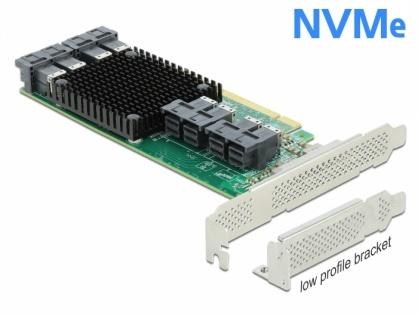PCI Express cu 8 porturi interne SFF-8643 NVMe LPFF, Delock 90504
