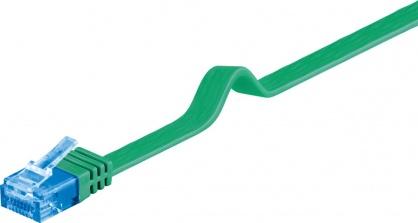 Cablu de retea cat 6A UTP Verde 0.5m, Goobay 96297