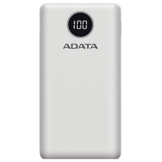 Power bank 20000mAh Quick Charge 3.0 + PD 18W, 2 x USB & 1 x USB-C 3A Alb, A-DATA AP20000QCD-DGT-CWH
