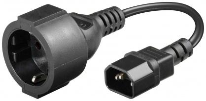 Cablu prelungitor pentru UPS 0.15m, Well CABLE-IEC-CCE-0.23-WL